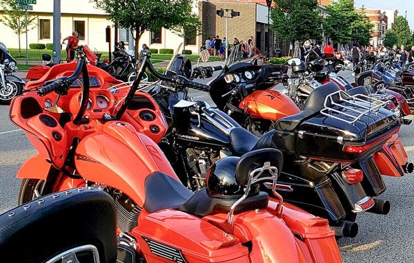 Bike Night at Sturgis Fest in Sturgis, Michigan